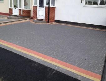 60mm brindle block paving