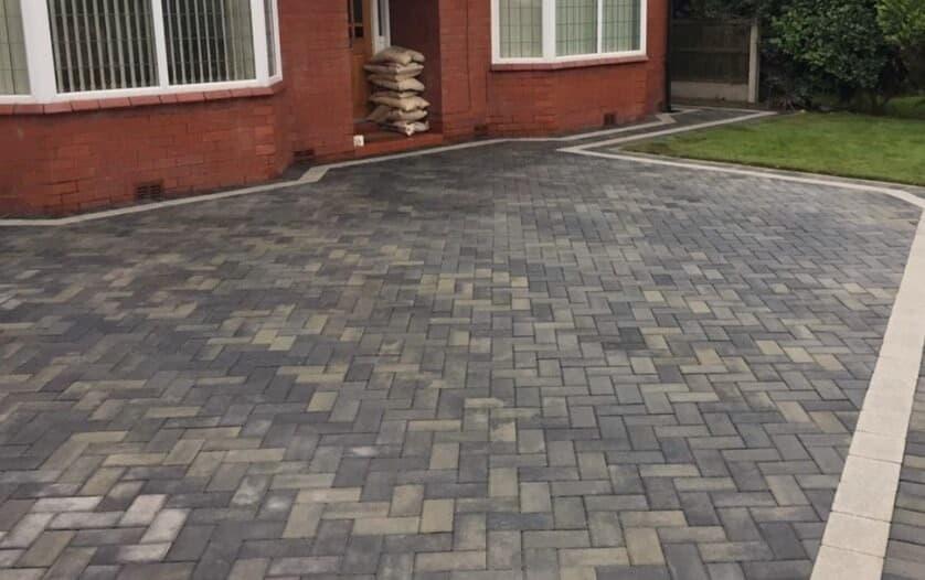 sloping driveway